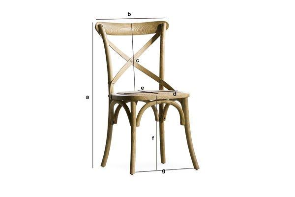 Productafmetingen Pampelune stoel