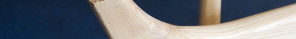 Benadrukte materialen Parkano glazen ronde tafel
