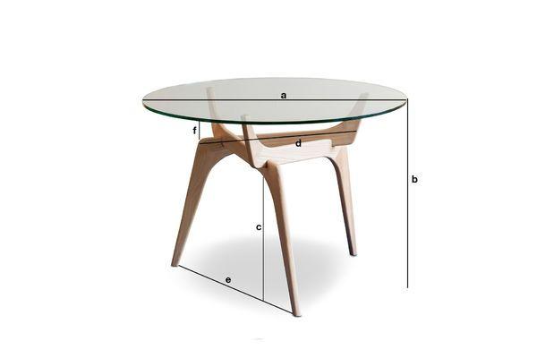 parkano glazen ronde tafel optimaliseert ruimte met