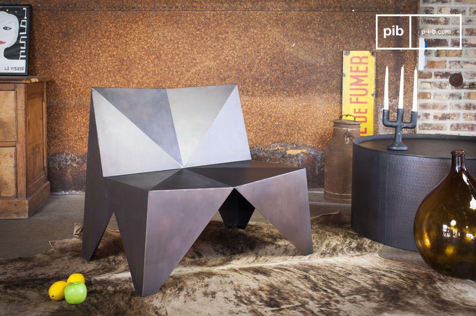 Polygonale Metal fauteuil