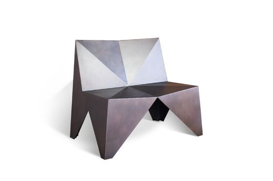 Polygonale Metal fauteuil Productfoto