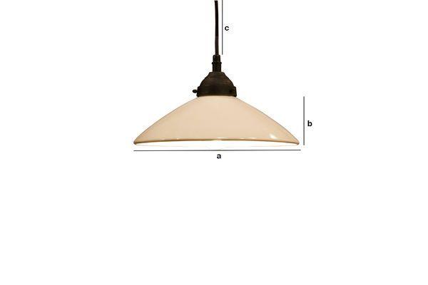 Productafmetingen Pornic keramische hanglamp
