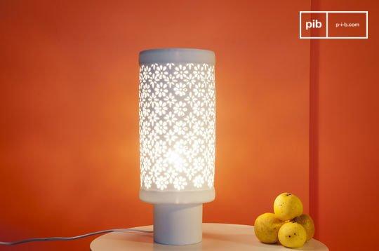 Porseleinen gebloemde lamp