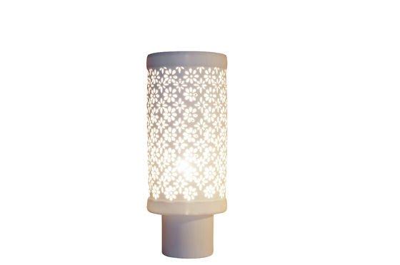 Porseleinen gebloemde lamp Productfoto