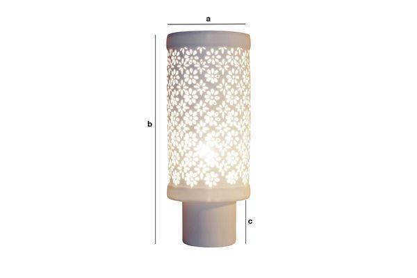 Productafmetingen Porseleinen gebloemde lamp