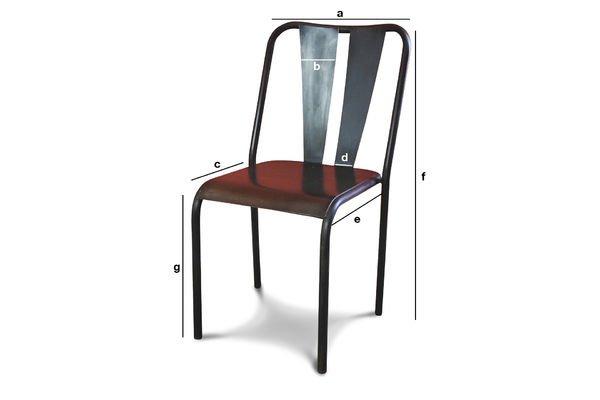 Productafmetingen Propriano stoel
