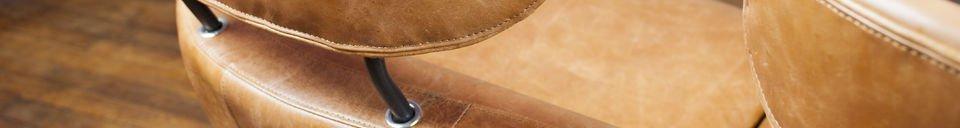 Benadrukte materialen Queen double fauteuil