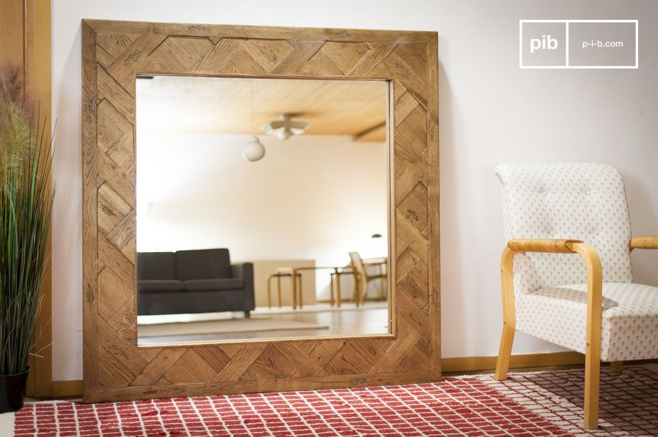 Een echt extra venster, deze spiegel kan het sleutelelement van uw kamer zijn.
