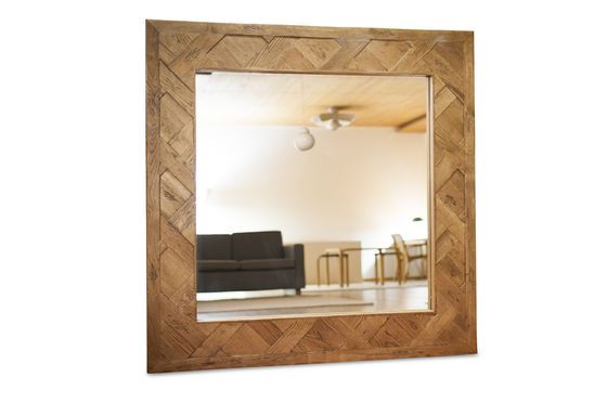 Queens houten spiegel Productfoto