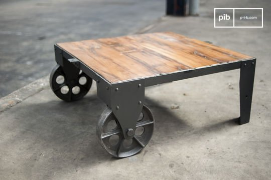 Railroad cart salontafel