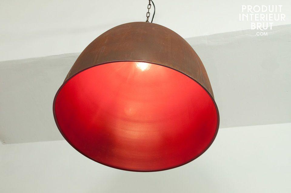 Een vrolijk gevoel door deze gekleurde industriële lamp! Volledig gemaakt van metaal