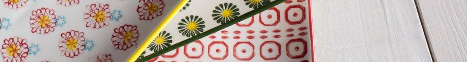 Benadrukte materialen Rechthoekige Julia borden