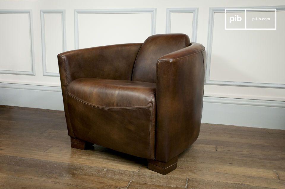 Deze leren fauteuil geeft je het gevoel alsof je aan het wachten in de business lounge van een vliegveld