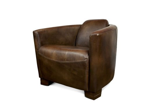 Red Baron leren fauteuil Productfoto