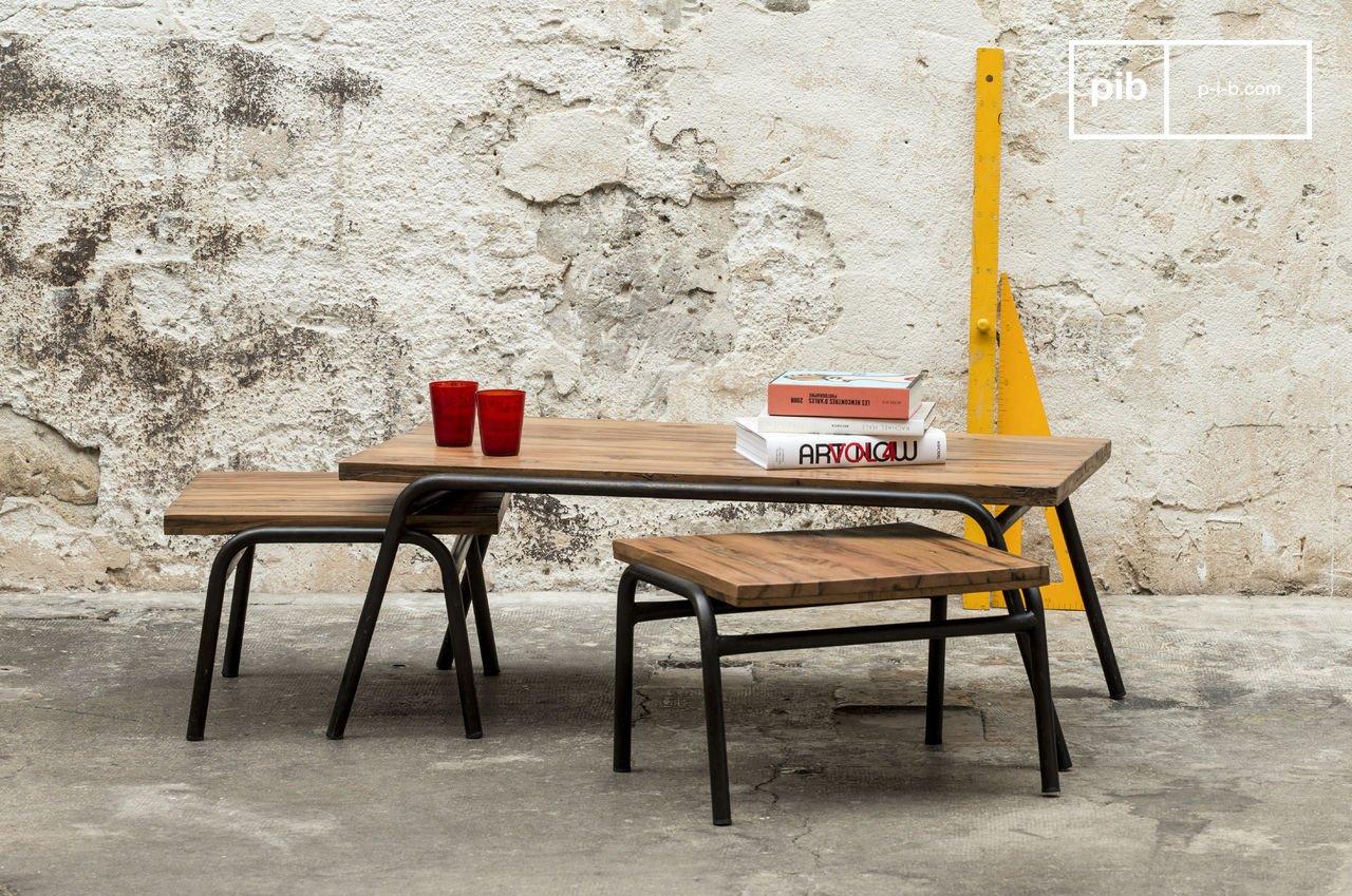 Spiksplinternieuw Regular salontafel - Ruw hout op metalen basis   pib VK-56