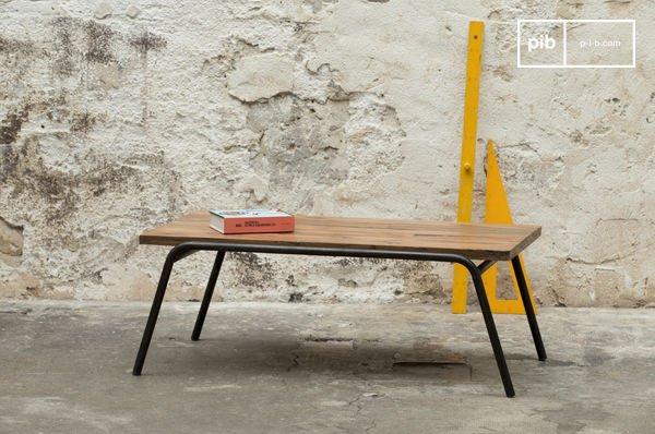 Wonderbaar Regular salontafel - Ruw hout op metalen basis   pib NK-96