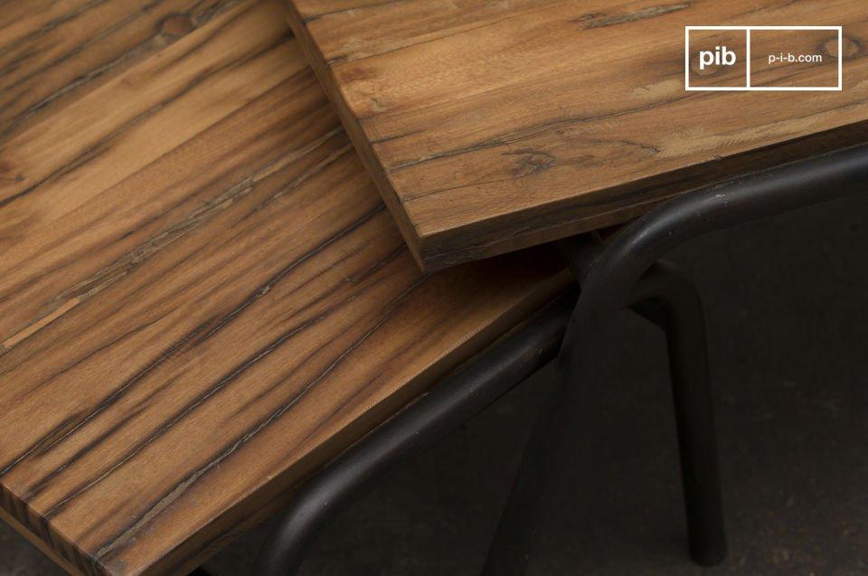 Deze salontafel heeft een industriële stijl dat bij elk loft interieur zal passen