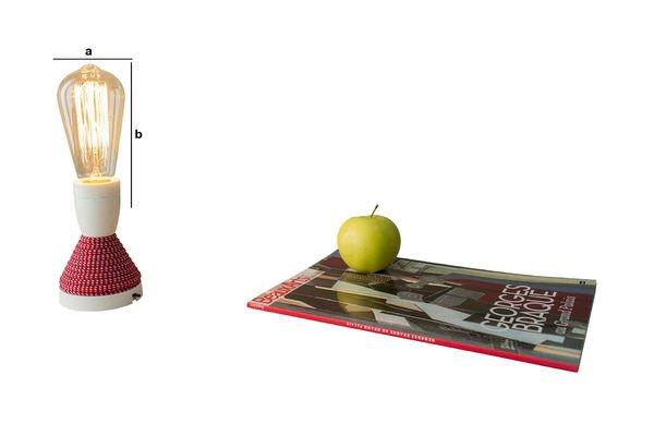 Productafmetingen Retro gloeilamp met een lange gloeidraad