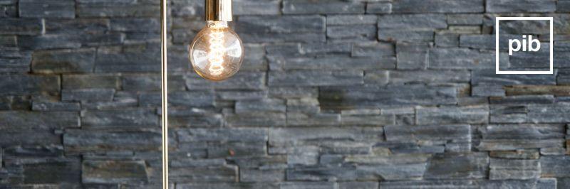 Retro tafellampen in Scandinavische stijl
