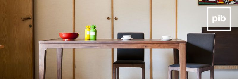Retro tafels in Scandinavische stijl