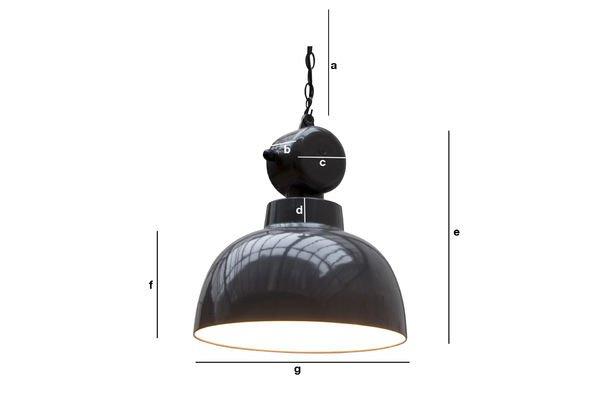 Productafmetingen Retronom industriële hanglamp