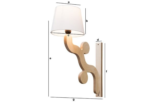 Productafmetingen Rholl  wandlamp