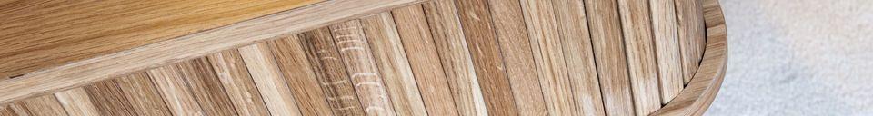 Benadrukte materialen Ritz gordijn koffietafel
