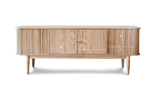 Productafmetingen Ritz gordijn tv meubel