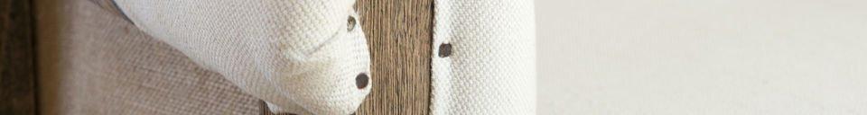 Benadrukte materialen Ronde Léonie fauteuil
