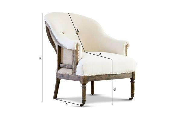 Productafmetingen Ronde Léonie fauteuil