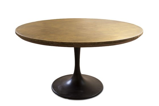 ronde liverpool tafel combinatie eikenhout messing pib. Black Bedroom Furniture Sets. Home Design Ideas