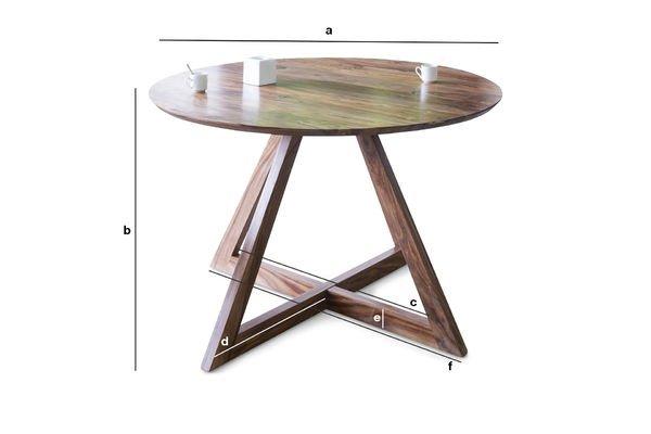 Productafmetingen Ronde Starbase tafel
