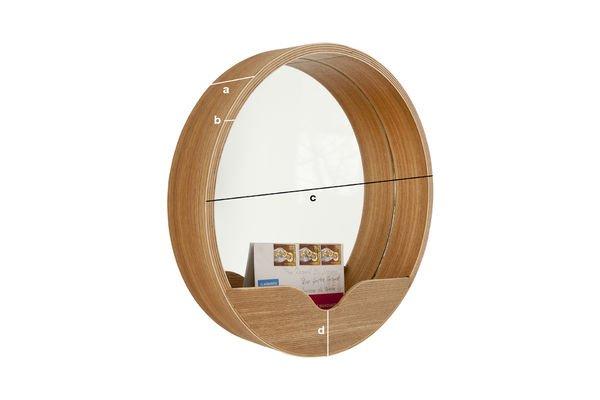 Productafmetingen Round wall spiegel