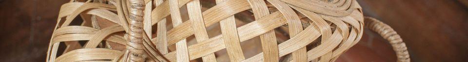 Benadrukte materialen Saïgon bamboe lantaarn