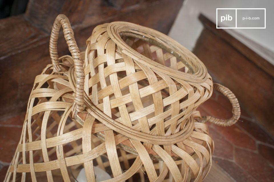 De Saïgon bamboelantaarn heeft een nette en tijdloos uiterlijk die het mogelijk maakt om te