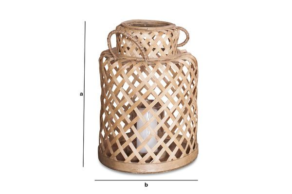 Productafmetingen Saïgon bamboe lantaarn