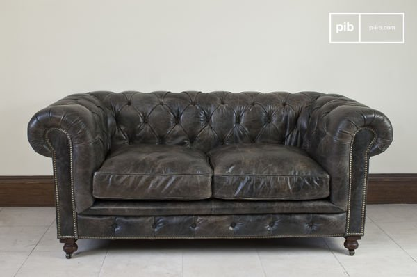 Leren Chesterfield Bank.Saint James Chesterfield Bank Met Vintage Finish Pib