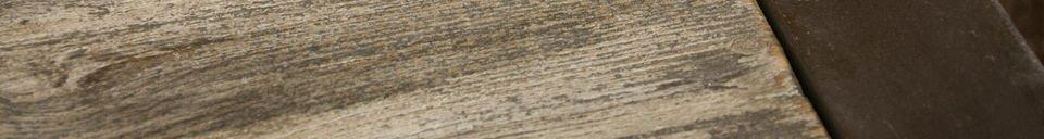 Benadrukte materialen Salontafel van gerecycled teakhout