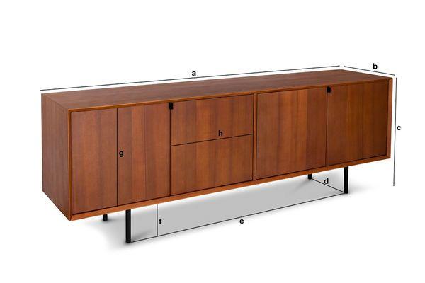 Productafmetingen Scandinavisch dressoir Jones