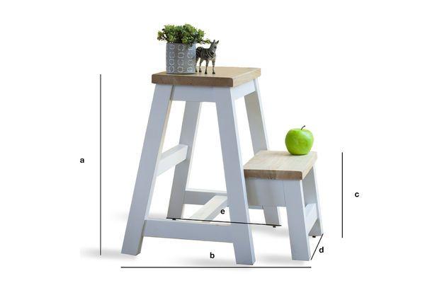 Productafmetingen Scandinavisch Edward laddertje