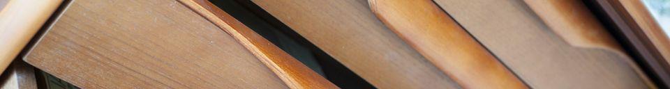 Benadrukte materialen Scandinavisch houten buffet Alrik