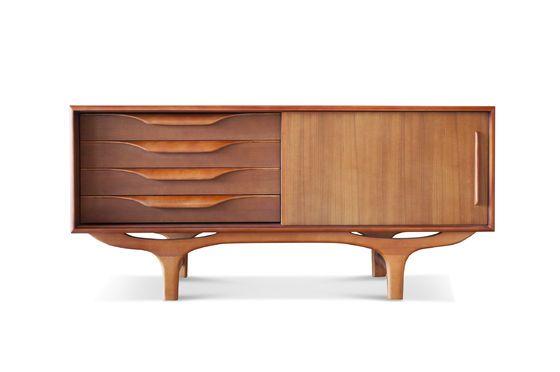 Scandinavisch houten buffet Alrik Productfoto