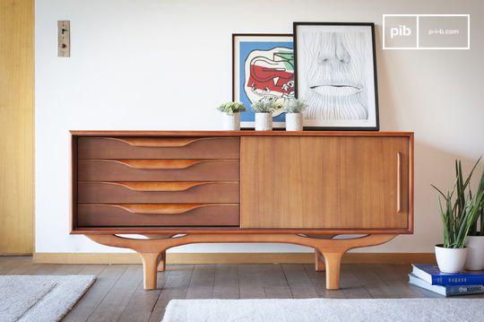 Scandinavisch houten dressoir Alrik