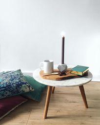 Scandinavische marmeren salontafel