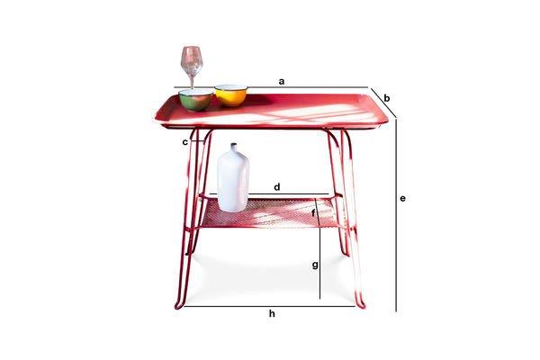 Productafmetingen Scarlet tafel