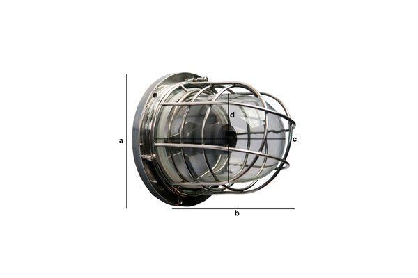 Productafmetingen Scheepvaart wandlamp Coursive