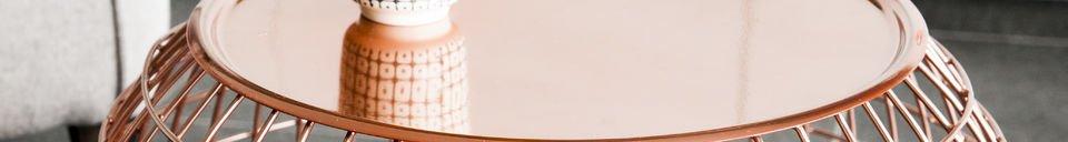 Benadrukte materialen Sfäris bijzettafel