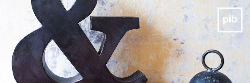 Shabby chic decoratieve letters snel weer terug in de collective