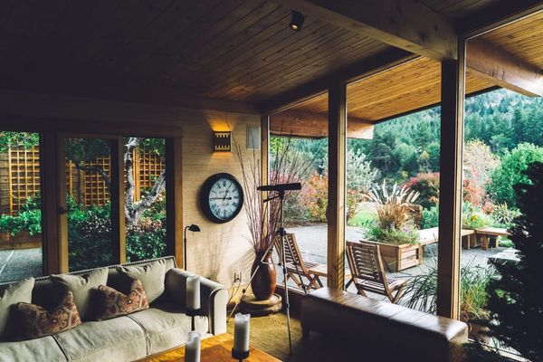 Shabby chic veranda