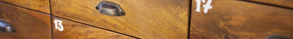 Benadrukte materialen Shawinigan vintage ladekast
